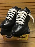 Vintage Wilson Sporting Goods Football Cleat Deadstock Usa Made Genuine Leather