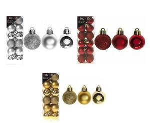 Snow White Christmas Tree Decoration 30mm Shatterproof 24/PK Astd Colors Baubles