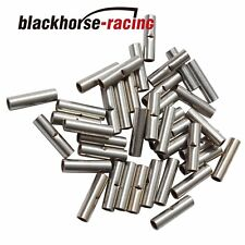 100Pcs 16-14 Ga. NON-INSULATED SEAMLESS BUTT WIRE CONNECTOR UNINSULATED SLIVER