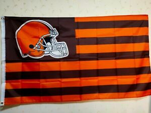 Cleveland Browns National Flag 3X5 FT Banner Polyester FAST SHIPPING!
