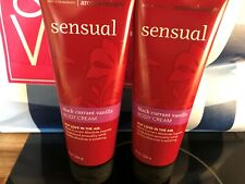 2 Bath & Body Works  Sensual Black Currant Vanilla Body Cream Aromatherapy 8 OZ