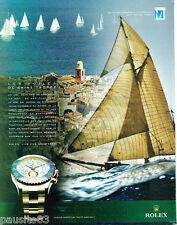 PUBLICITE ADVERTISING 125  2011  ROLEX  montre YACHT-MASTER voiles de ST TROPEZ