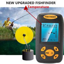 Portable 100M Fish Finder Depth Echo Sonar Alarm Sensor Transducer Fishfinder