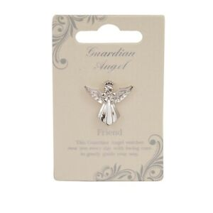 Friend Guardian Angel Silver Coloured Angel Pin With Gem Stone Sentimental Gift