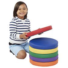 6 Piece Round Floor Cushions Handle Flexible Seating Foam Home Classroom Cushion