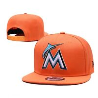 Miami Marlins New Era MLB 9FIFTY Snapback Hat Cap Orange Flat Brim 950 Brand New