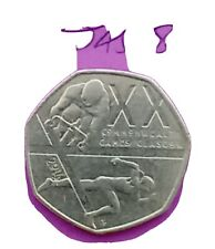 50p Commonwealth Games Glasgow 2014 Fifty Pence Coin.