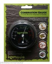 Komodo Combined Analogue Thermometer & Hygrometer Vivarium Reptile