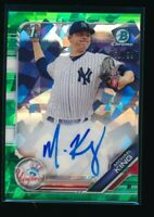 MICHAEL KING AUTO 2019 Bowman Chrome Autograph GREEN ATOMIC REFRACTOR #/99 RC