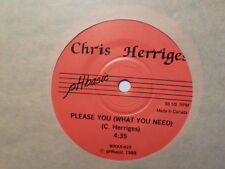 CANADA PRESS PH BASIC 45 RECORD/ CHRIS HERRIGES /IN YOUR TIME/PLEASE YOU/ EX