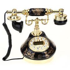 Telefono Fisso Vintage Vivavoce Floreale ID Chiamante Antifulmine con Cornetta