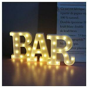 BAR - Illuminated Marquee Bar Sign - Lighted LED Marquee Word Sign -