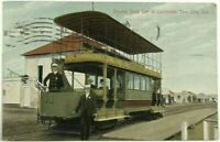 Double Deck Train Car Trolley Coronado Tent City California CA 1900's Postcard
