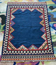 New listing Handmade Vintage kilim 4x6 Low Pile Area Rug