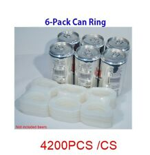 6 PACK BEER SODA CAN PLASTIC RINGS PRE-CUT 4200PCS / CS