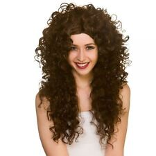 Adult Ladies Long Curly Untamed Wild Fancy Dress Hair Wig 80s Cher Afro