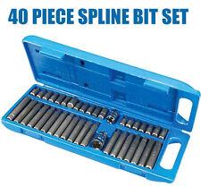 40 Piece Torx ,Star, Spline, Hex, Socket, Bit Set 3/8 Inch & 1/2  Drive S96