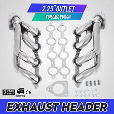 Set Exhaust Header Fit GMC Yukon 2000-2001 4.8L 5.3L Sierra 1500 2500 Look