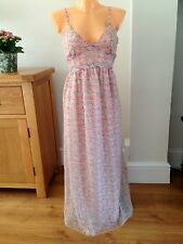 Pretty Floral Monsoon Maxi Sundress Summer Evening Dress Party Holiday Size 8