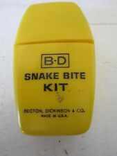 Vintage BD Snake Bite Kit Becton, Dickinson & Co. Survival Prepper