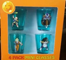 DRAGON BALL Z Shot Glasses (Set of 4) DRAGONBALL Z Shot Glass DBZ NEW