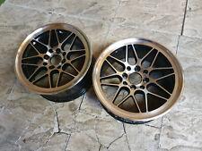 "2x 15"" Black / Polished Alloy wheels MX5 AE86 15x7 ET25 4x100 4x114.3 Drift Pair"