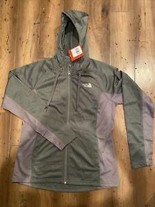 North Face W 100 Cinder Full Zip Hoodie Jacket Large