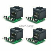 4pcs Kit RJ45 8-pin Connector Breakout Board For Cat5/Cat5e/Cat6 Ethernet Cable