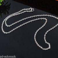 Pd:1 Herren Damen Silberkette Edelstahl Ankerkette Halskette Collier 51cm