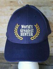 World's Greatest Hunter Ball Cap Adjustable Hunting Hat Deer Buck Big Game Gift
