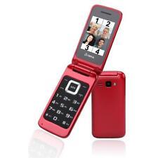 Olympia Mobiltelefon LUNA Seniorenhandy große Tasten SOS Radio Klapphandy rot