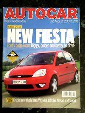 AUTOCAR MAGAZINE 22-AUG-01 - VW Lupo GTi, Lexus SC430, Nissan X-Trail, Previa