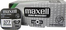 2 x Maxell 377 376 Silver Oxide SR626SW  G4 1.55V Watch Battery