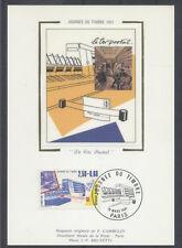 FRANCE FDC - 1991 2 JOURNEE DU TIMBRE - 2688 - PARIS - SUR CARTE POSTALE soie