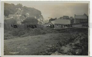 GENUINE RARE VINTAGE POSTCARD,A VIEW OF CADGWITH,ST IVES,CORNWALL,RP(3)