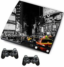 NEW York Adesivo / Pelle PS3 PLAYSTATION 3 CONSOLE / Remote Controller, psk20
