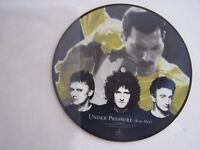 SP 45 TOURS VINYLE , PICTURE DISC , QUEEN , UNDER PRESSURE . EX . ANGLETERRE .