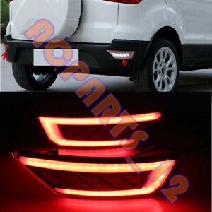 For Ford Ecosport 2013-2020 L&R LED Rear Bumper Tail Light Brake Lamp 2PCS