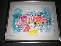 Charles Cobelle, Orig. watercolor Paris Street Scene