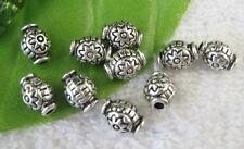 80pcs Tibetan Silver flower barrel spacer beads FC8901