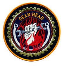 "Gear Head 5"" sew on high quality patch/ EMBLEM GIFT?"