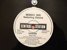 "MIMMO MIX feat Donna ""Chains"" / MOD 222 ""Time Has No Time"" -'90 Aus 12"" HOUSE NM"