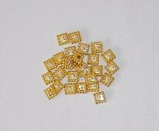 100 Stück Metall Quadrate 5 x 5 mm  GOLD -  Spacer