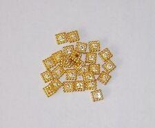 100 Stück Metall Quadrate 5 x 5 mm  GOLD -  Spacer