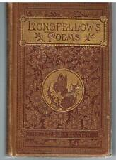 Poetical Works of Henry Wadsworth Longfellow 1883 Rare Book