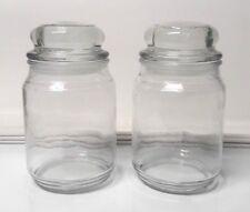2 Betty Crocker Large Candle Jars w/Round Lids, Clean Empty 18 oz, Glue/Wax-Free