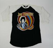 Vtg Jimi Hendrix T Shirt '80s Raglan Rock Psychedelic Funkadelic Experience