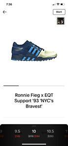 Adidas Kith Ronnie Fieg EQT 93 NYC Finest Sz 10