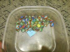 Old Marbles Cats Eyes Swirl Handmade Glass German Klicker Murmel Lot 9