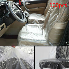100 x Disposable Plastic Car Seat Covers Repair Service Garage Mechanic